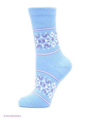 Носки классически, гладкие HOSIERY. Цвет: голубой