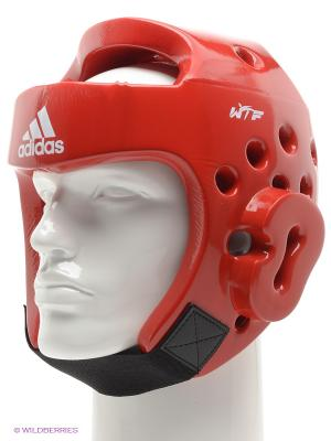 Шлем для тхэквондо Adidas. Цвет: красный