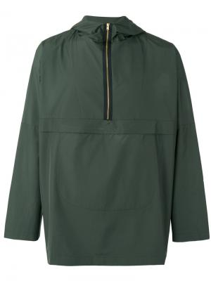 Half zip cagoule jacket Oliver Spencer. Цвет: зелёный