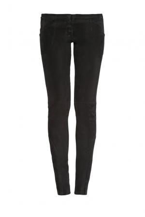 Замшевые брюки 160232 Izeta. Цвет: черный