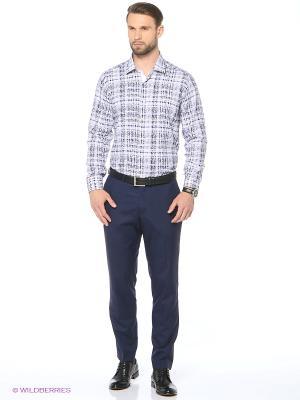 Рубашка KARFLORENS. Цвет: синий, белый