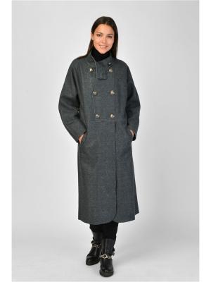 Пальто Maria Velada. Цвет: темно-зеленый, серый