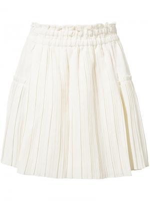 Плиссированная мини-юбка Apiece Apart. Цвет: белый
