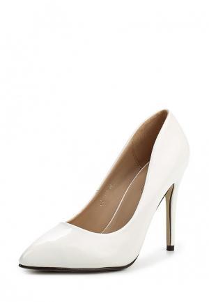 Туфли Ideal Shoes. Цвет: белый