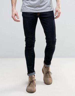 Nudie Jeans Супероблегающие джинсы. Цвет: темно-синий