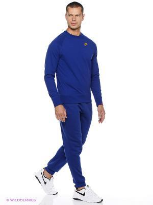Брюки Nike. Цвет: темно-синий, желтый