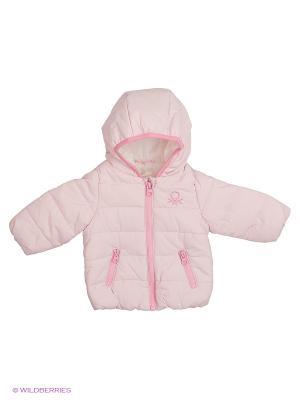 Куртка United Colors of Benetton. Цвет: бледно-розовый