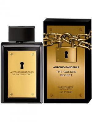 Golden Secret man edt 100 ml ANTONIO BANDERAS. Цвет: золотистый, черный