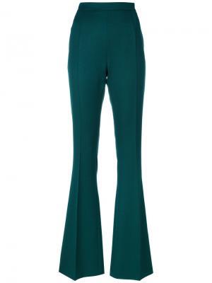Расклешенные брюки Pierre Balmain. Цвет: зелёный