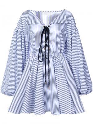 Платье Olympia Caroline Constas. Цвет: синий