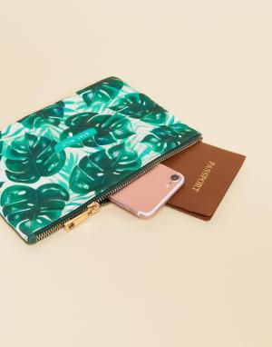 Sass & Belle Кошелек с тропическим принтом. Цвет: мульти