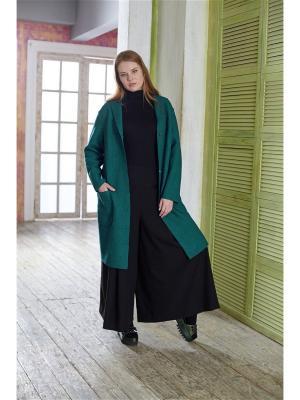 Пальто W&B. Цвет: темно-зеленый