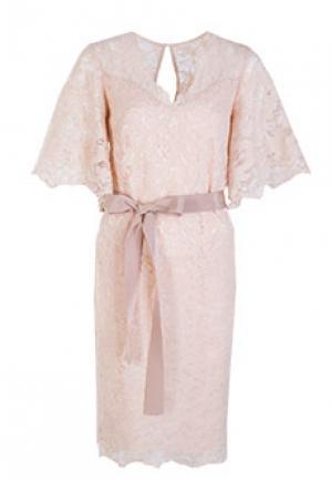 Платье VUALL. Цвет: бежевый
