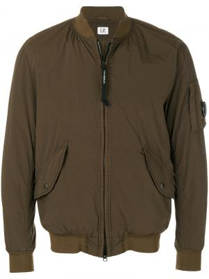 Куртка на молнии CP Company. Цвет: зелёный