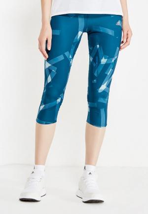 Тайтсы adidas. Цвет: синий