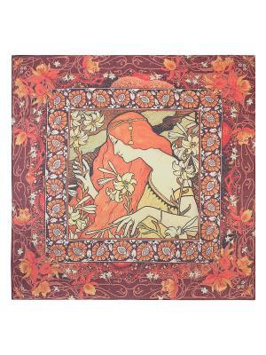 Платок Labbra. Цвет: бордовый, оранжевый, светло-желтый