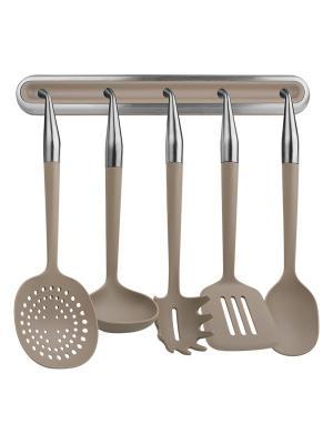 Набор кухонных принадлежностей Rondell RD-229. Цвет: бежевый, серебристый