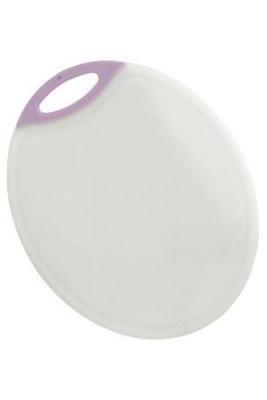 Доска разделочная пластик Calve. Цвет: белый, розовый