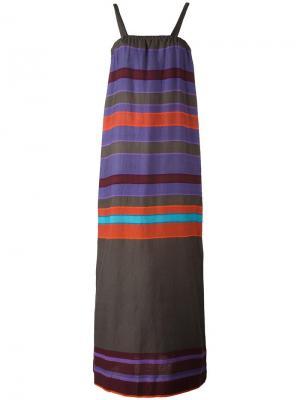 Длинное полосатое платье Lemlem. Цвет: многоцветный