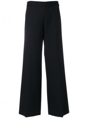 Расклешенные классические брюки Victoria Beckham. Цвет: чёрный