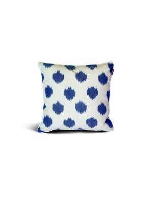 Чехол на подушку декоративныйIkat Square 45*45см RAWEDGE. Цвет: синий