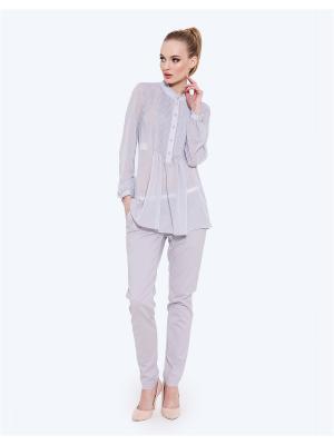 Блузка LO. Цвет: серый