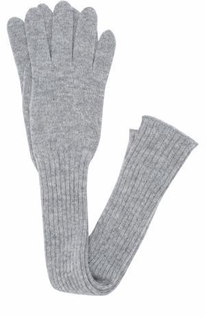 Удлиненные кашемировые перчатки Tegin. Цвет: серый