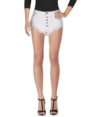 Джинсовые шорты ONE. Цвет: белый