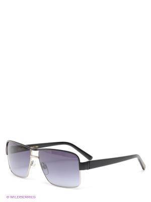 Солнцезащитные очки Borsalino. Цвет: черный