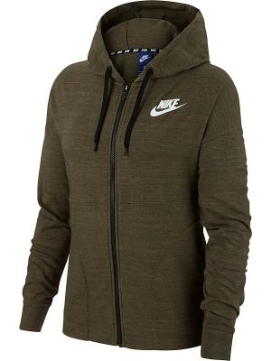 Куртка W NSW AV15 JKT KNT Nike. Цвет: оливковый