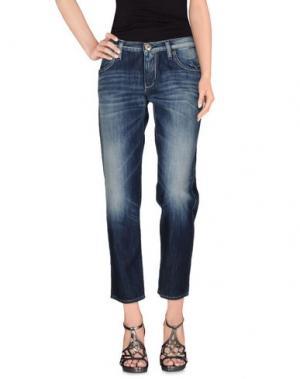 Джинсовые брюки TAKE-TWO. Цвет: синий