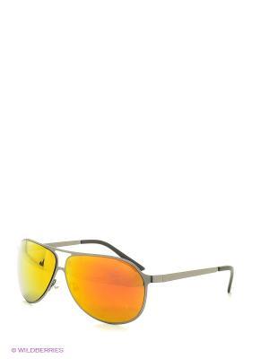 Солнцезащитные очки Vita pelle. Цвет: серый, оранжевый