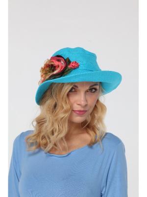 Шляпа Lak Miss. Цвет: бирюзовый, розовый