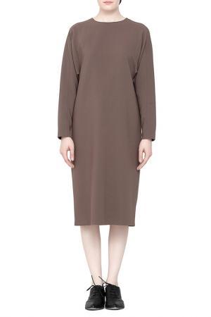 Платье Cyrille Gassiline. Цвет: cветло-коричневый