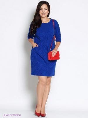 Платье Битис. Цвет: синий