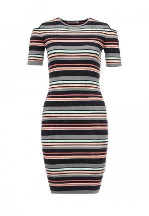 Платье Zarina. Цвет: разноцветный