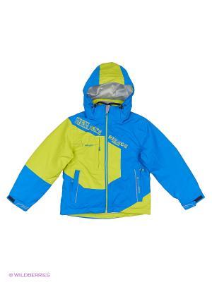 Куртка 3 в 1 High Experience. Цвет: голубой, желтый