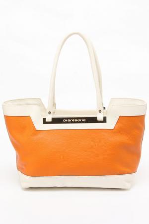 Сумка Di Gregorio. Цвет: оранжевый, молочный