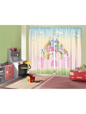 Фотошторы Детские сказки, 290*265 см Magic Lady. Цвет: розовый, светло-зеленый, светло-голубой, светло-желтый