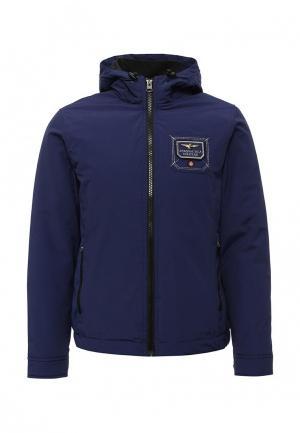 Куртка утепленная Aeronautica Militare. Цвет: синий
