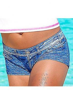 Шорты Kangaroos. Цвет: джинсовый синий, черный, ярко-розовый