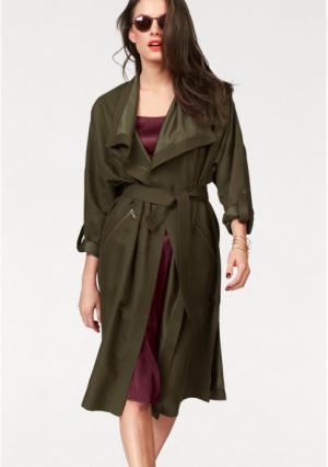 Плащ Aniston. Цвет: оливково-зеленый