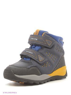 Ботинки GEOX. Цвет: черный, желтый