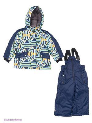 Комплект одежды Hippo Hoppo. Цвет: синий, салатовый