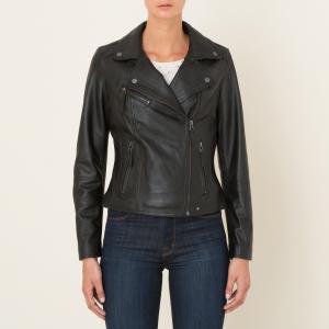 Блузон кожаный CLIPS OAKWOOD. Цвет: темно-синий,черный