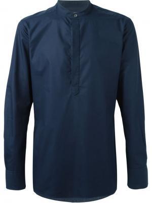 Классическая рубашка кроя слим E. Tautz. Цвет: синий