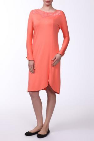 Платье домашнее Cotton Club. Цвет: оранжевый