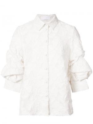 Рубашка с присборенными рукавами Co. Цвет: белый