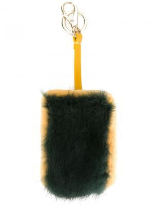 Фактурный брелок Anya Hindmarch. Цвет: зелёный
