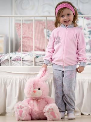 Костюм Lucky Child. Цвет: серый, розовый